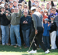 December 3, 2011: The crowd reacts to Tiger Woods birdie during the third round of the Chevron World Challenge held at Sherwood Country Club, Thousand Oaks, CA.