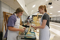 More than 3,000 pounds of pasta noodles are being prepared Thursday, July 15, 2021, at the St. Joseph's Parish Hall in Tontitown for the 122nd Tontitown Grape Festival which runs Tuesday, August 3 through Saturday, August 7. The homemade spaghetti will be served August 5 through 7. Check out nwaonline.com/210716Daily/ and nwadg.com/photos for a photo gallery.<br /> (NWA Democrat-Gazette/David Gottschalk)<br /> <br /> TZ FEA PASTA 7-15