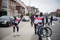 Ryan Mullen (IRE/Trek-Segafredo) crashed urly in teh race and needed to abandon<br /> <br /> 105th Ronde van Vlaanderen 2021 (MEN1.UWT)<br /> <br /> 1 day race from Antwerp to Oudenaarde (BEL/264km) <br /> <br /> ©kramon