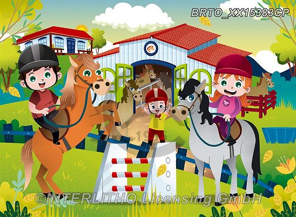 Alfredo, CUTE ANIMALS, LUSTIGE TIERE, ANIMALITOS DIVERTIDOS, puzzle, paintings+++++,BRTOXX15383CP,#ac#, EVERYDAY ,puzzle,puzzles,horses
