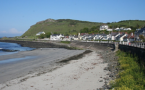 Ballygally, a village and holiday resort on the Antrim coast where a paddleboarder got into difficulty