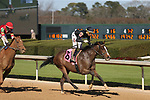 March 6, 2021: Bode's Maker (8) with jockey Ramon A Vazquez after crossing the finish line in the fifth race at Oaklawn Racing Casino Resort in Hot Springs, Arkansas on March 6, 2021. Justin Manning/Eclipse Sportswire/CSM