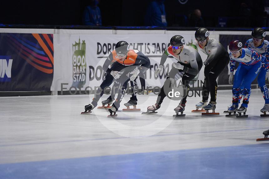 SPEEDSKATING: DORDRECHT: 07-03-2021, ISU World Short Track Speedskating Championships, Final A 5000m Relay, Jens van 't Wout (NED), (HUN), ©photo Martin de Jong