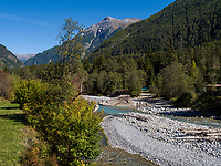 Inn bei  Sur En bei Sent, Scuol, Unterengadin, Graubünden, Schweiz, Europa<br /> river Inn near Sent Sur En, Scuol Valley, Engadine, Grisons, Switzerland