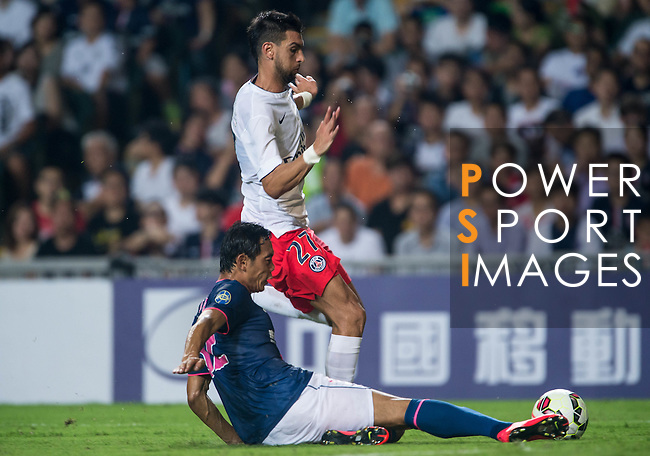 Javier Pastore of Paris Saint-Germain looks on during Kitchee SC vs Paris Saint-Germain during the The Meeting of Champions on July 29, 2014 at the Hong Kong stadium in Hong Kong, China.  Photo by Aitor Alcalde / Power Sport Images