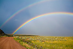 Double rainbow in rural Montana near Dillon