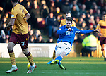 Motherwell v St Johnstone…..30.11.19   Fir Park   SPFL<br />Anthony Ralston has a shot at goal<br />Picture by Graeme Hart.<br />Copyright Perthshire Picture Agency<br />Tel: 01738 623350  Mobile: 07990 594431
