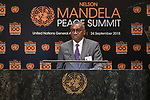 Opening Plenary Meeting of the Nelson Mandela Peace Summit<br /> <br /> His Excellency Sidiki KABAMinister for Foreign Affairs and Senegalese Abroad of Senegal
