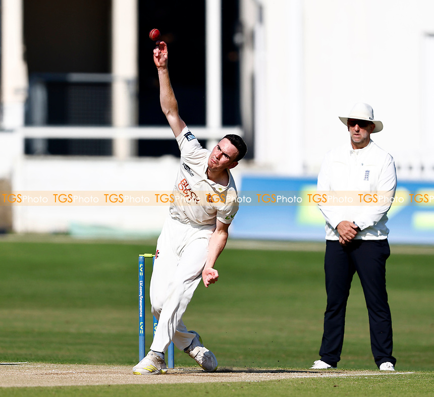 Nathan Gilchrist bowls for Kent during Kent CCC vs Worcestershire CCC, LV Insurance County Championship Division 3 Cricket at The Spitfire Ground on 7th September 2021