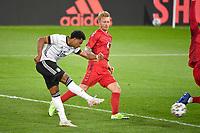 2nd June 2021, Tivoli Stadion, Innsbruck, Austria; International football friendy, Germany versus Denmark;   Goal Serge GNABRY GER shot on goal