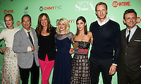 """NORTH HOLLYWOOD, CA, USA - APRIL 29: Caitlin Fitzgerald, Beau Bridges, Allison Janney, Annaleigh Ashford, Lizzy Caplan, Teddy Sears, Michael Sheen at Showtime's """"Masters Of Sex"""" Special Screening And Panel Discussion held at the Leonard H. Goldenson Theatre on April 29, 2014 in North Hollywood, California, United States. (Photo by Celebrity Monitor)"""