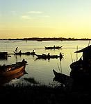 Tonle Sap Sunrise 04 - Sunrise over the Tonle Sap Lake at Chong Kneas floating village, Siem Reap, Cambodia