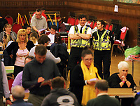 Pictured: Police officers at the count. Friday 09 June 2017<br />