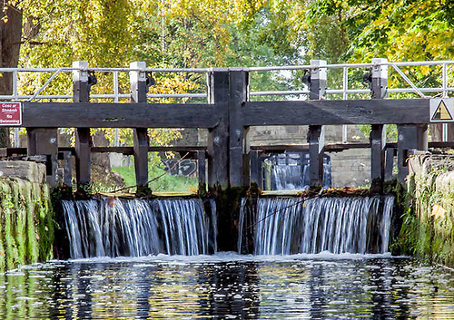File image of a canal lock gate in Dublin
