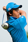 SHENZHEN, CHINA - OCTOBER 30:  Chang-Won Han of South Korea in action during the day two of Asian Amateur Championship at the Mission Hills Golf Club on October 30, 2009 in Shenzhen, Guangdong, China.  (Photo by Victor Fraile/The Power of Sport Images) *** Local Caption *** Chang-Won Han