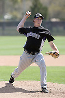 Stephen Dodson, Colorado Rockies 2010 minor league spring training..Photo by:  Bill Mitchell/Four Seam Images.