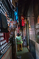 India, Maharashtra, Mumbai, Bombay, red light district. Hallway in Simplex brothel.