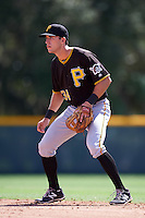 Pittsburgh Pirates Kevin Mahala (34) during an Instructional League Intrasquad Black & Gold game on September 20, 2016 at Pirate City in Bradenton, Florida.  (Mike Janes/Four Seam Images)