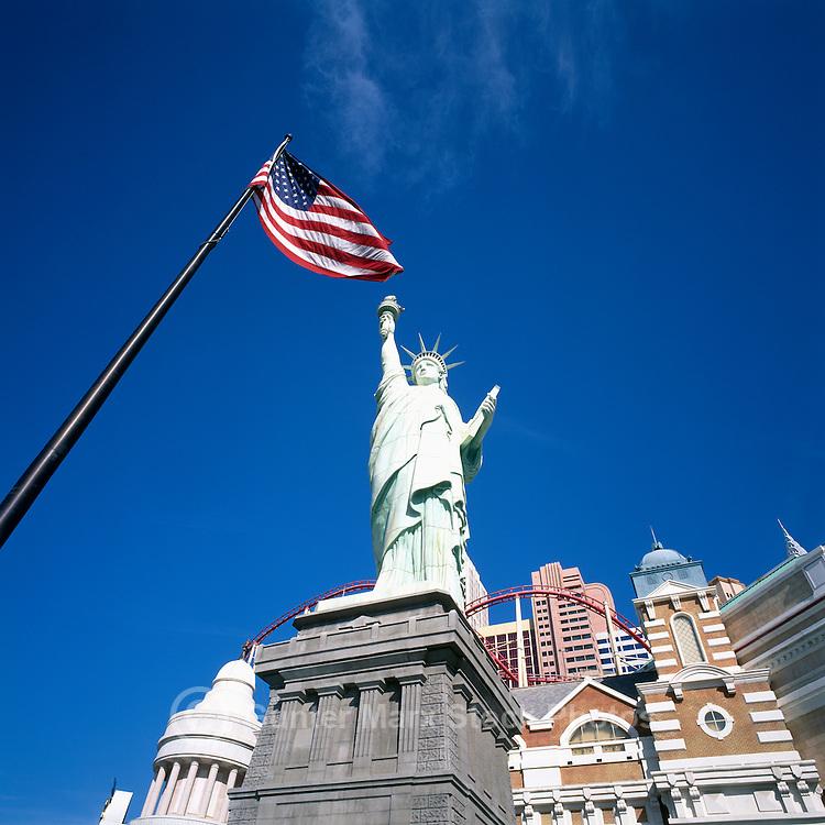 Las Vegas, Nevada, USA - New York-New York Hotel & Casino along The Strip (Las Vegas Boulevard)