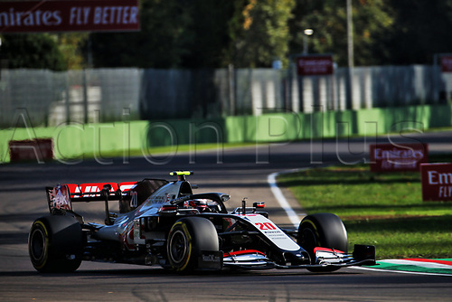 31st October 2020, Imola, Italy; FIA Formula 1 Grand Prix Emilia Romagna, Free Practise sessions;  20 Kevin Magnussen DEN, Haas F1 Team