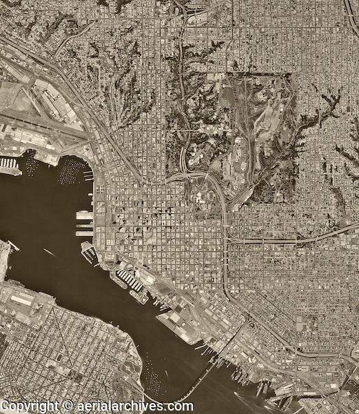 historical aerial photograph San Diego, California, 1994
