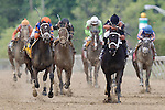 May 16, 2014:  Stopchargingmaria (left, orange and blue silks), trained by Todd Pletcher and ridden by Javier Castellano, wins the Black-Eyed Susan Stakes at Pimlico Race Course in Baltimore, MD. ©Joan Fairman Kanes/ESW/CSMMay 16, 2014: Stopchargingmaria, trained by Todd Pletcher and ridden by Javier Castellano, wins the Black-Eyed Susan Stakes at Pimlico Race Course in Baltimore, MD. ©Joan Fairman Kanes/ESW/CSM