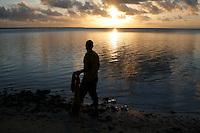 Fisherman on Home Island, Cocos Keeling Islands, Indian Ocean