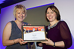 Pix: Shaun Flannery/shaunflanneryphotography.com<br /> <br /> COPYRIGHT PICTURE>>SHAUN FLANNERY>01302-570814>>07778315553>><br /> <br /> 4th April 2014.<br /> The Rotherham Athena Awards 2014.<br /> Honouree Joanne Flanagan.