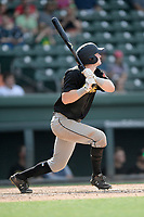 Right fielder Charlie McConnell (19) of the West Virginia Power bats in a game against the Greenville Drive on Sunday, May 19, 2019, at Fluor Field at the West End in Greenville, South Carolina. Greenville won, 8-4. (Tom Priddy/Four Seam Images)