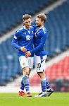 St Mirren v St Johnstone…09.05.21  Scottish Cup Semi-Final Hampden Park <br />Jamie McCart celebrates at full time with David Wotherspoon<br />Picture by Graeme Hart.<br />Copyright Perthshire Picture Agency<br />Tel: 01738 623350  Mobile: 07990 594431