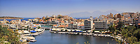 Agios Nikolaos panoramic photo with iconic view of the bay