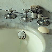 Detail of an original Victorian marble wash basin