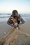 Boy Fishing With Net