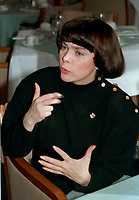 """Mireille Mathieu , 22 Feb 1990 interview<br /> <br /> (born July 22, 1946) is a French singer, who besides being very successful in her own country, became a star of international stature, recording in several languages.<br /> <br /> Discovered by Johnny Stark, manager of France's biggest star at the time, Johnny Hallyday, she was tutored by orchestra leader Paul Mauriat and song writer André Pascal who wrote Mon crédo, Viens dans ma rue, La première étoile and many other hits for her . After her television performance in 1965 and debut run at the Paris Olympia, she was immediately hailed as the next ?dith Piaf, such was her haunting voice.<br /> <br /> Singles such as """"Mon Credo"""" and """"C'est Ton Nom"""" made her a huge star in France and all over Europe while making her a big success in North America and Mexico. Her French cover of Engelbert Humperdinck's """"The Last Waltz"""" generated much publicity in Great Britain and with hit after hit, she soon toured Canada and the United States where she appeared on the Ed Sullivan Show and the Danny Kaye Show. In Las Vegas, she sang with Dean Martin and Frank Sinatra to great applause.<br /> <br /> Still much in demand, she continues to perform regularly. She travels frequently, appearing at such venues as New York City's Carnegie Hall, Sport Palace in Montreal, Universal Amphitheatre in Los Angeles and Ice Palace of St. Petersburg. She has sold about 150 million copies of her albums in her 40 year career, recorded about 1200 songs in 9 languages, and was the first western singer in history who gave concerts in China. Over the years she sang duets with such luminaries as Charles Aznavour, Barry Manilow, Paul Anka, Plácido Domingo, Julio Iglesias, Tom Jones, Peter Alexander and others.<br /> <br /> Songs such as """"Acropolis adieu,"""" """"Ne me quitte pas,"""" and """"Santa Maria de la mer,"""" are considered classics. Her French version of Roy Orbison's ballad, """"Blue Bayou"""", is regarded by many as one of the best covers of that popular song. Noted"""