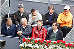 Toni Nadal (r) and Rafael Nadal's technical team during Madrid Open Tennis 2016 Semifinal match.May, 7, 2016.(ALTERPHOTOS/Acero)