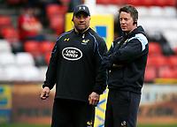 Photo: Richard Lane/Richard Lane Photography. Bristol Rugby v Wasps. Aviva Premiership. 16/04/2017. Wasps' Dan Baugh and Trystan Bevan.