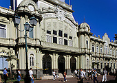 San Jose, Costa Rica. The Correos y Telegrafos central post office building.