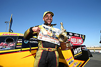 Jul 30, 2017; Sonoma, CA, USA; NHRA funny car driver J.R. Todd celebrates after winning the Sonoma Nationals at Sonoma Raceway. Mandatory Credit: Mark J. Rebilas-USA TODAY Sports