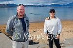 Kevin Williams and Elaine Burrows Dillane just out of the water in Fenit on Sunday morning.
