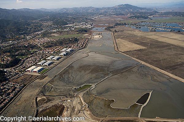 aerial photograph of Hamilton Airfield wetland restoration project, Novato, Marin county, California, 2008