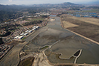 aerial photograph of Hamilton Airfield wetland restoration project, Novato, Marin county, California, 2008