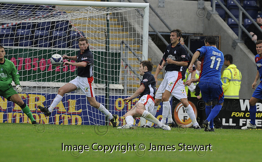 30/08/2008  Copyright Pic: James Stewart.File Name : sct_jspa11_falkirk_v_ict.DOUGLAS IMRIE SCORES CALEY'S SECOND.James Stewart Photo Agency 19 Carronlea Drive, Falkirk. FK2 8DN      Vat Reg No. 607 6932 25.James Stewart Photo Agency 19 Carronlea Drive, Falkirk. FK2 8DN      Vat Reg No. 607 6932 25.Studio      : +44 (0)1324 611191 .Mobile      : +44 (0)7721 416997.E-mail  :  jim@jspa.co.uk.If you require further information then contact Jim Stewart on any of the numbers above........