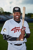 Tri-City ValleyCats left fielder Ronnie Dawson (44) poses for a photo before a game against the Auburn Doubledays on August 25, 2016 at Falcon Park in Auburn, New York.  Tri-City defeated Auburn 4-3.  (Mike Janes/Four Seam Images)