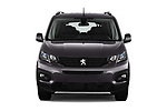 Car photography straight front view of a 2019 Peugeot Rifter GT-Line 5 Door MPV