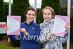 Ciara Moynihan and Caoilinn O'Donoghue  were delighted to finally get their Leaving Cert started in the St Brigids Presentation Killarney on Wednesday