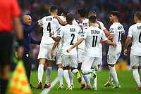 9th October 2021; Hampden Park, Glasgow, Scotland; FIFA World Cup football qualification, Scotland versus Israel;  Eran Zahavi of Israel celebrates with his team mates after he makes it 0-1to Israel in the 5th minute