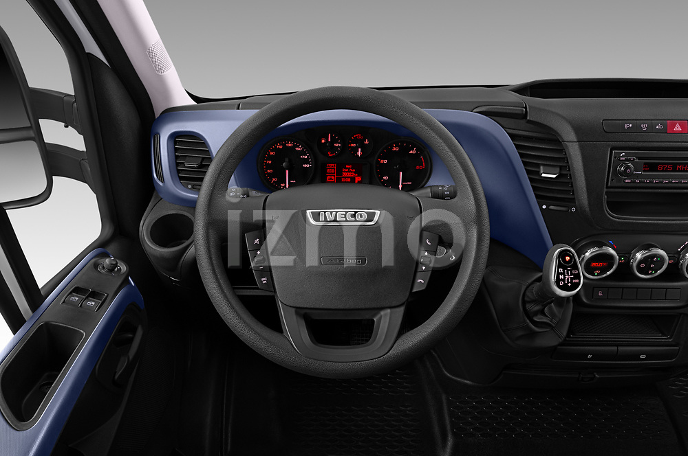 Car pictures of steering wheel view of a 2018 Iveco Daily - 4 Door Cargo Van Steering Wheel