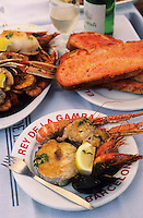 "Europe/Espagne/Catalogne/Barcelone : A la table du restaurant ""El rey de la Gamba"""