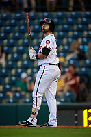 Richmond Flying Squirrels Zach Houchins (39) at bat during an Eastern League game against the Binghamton Rumble Ponies on May 29, 2019 at The Diamond in Richmond, Virginia.  Binghamton defeated Richmond 9-5 in ten innings.  (Mike Janes/Four Seam Images)