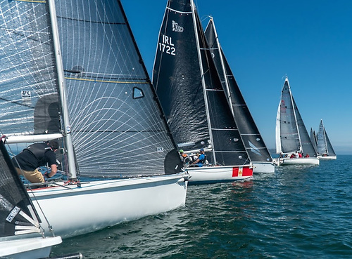 The breeze firming in to provide a neat start for an entry list that came from ten very diverse clubs. Photo: Annraoi Blaney
